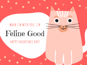 When I'm With You I'm Feline Good. Happy Valentines Day