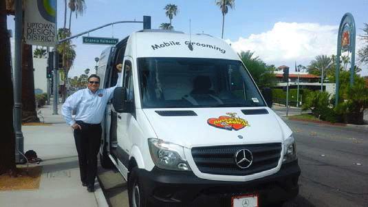 Tony with Aussie Pet Mobile Van